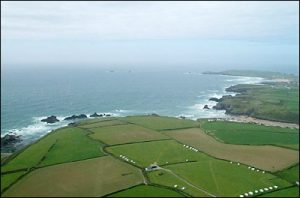 Aerial view of the Coastline near Porth