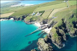 Aerial view of the Trevose Head RNLI Lifeboat station